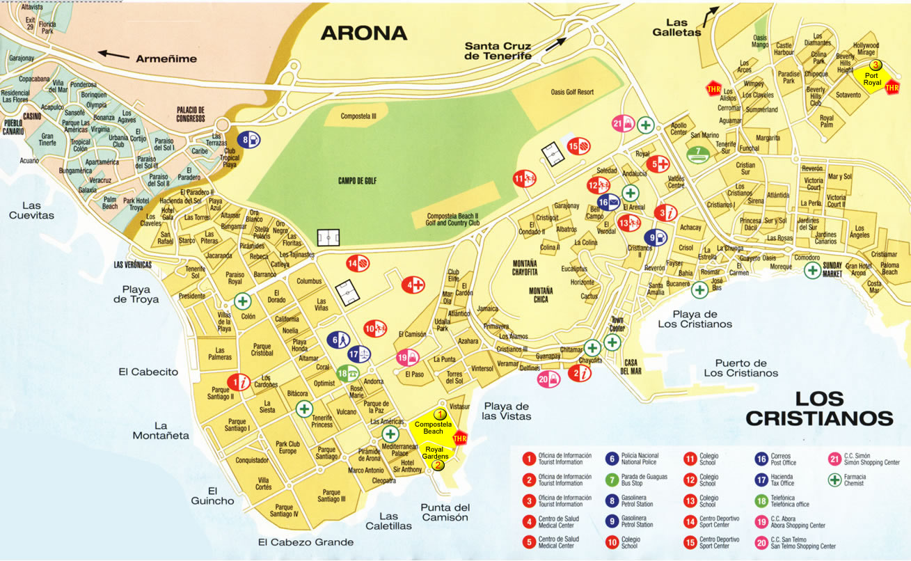 Tenerife map tenerife island maps map of tenerife in jpg format click here gumiabroncs Choice Image