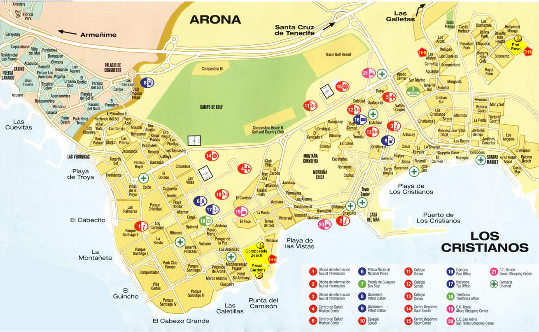 Tenerife Map Tenerife Island Maps Map Of Tenerife