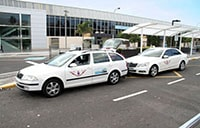 Taxis at the airport in Tenerife
